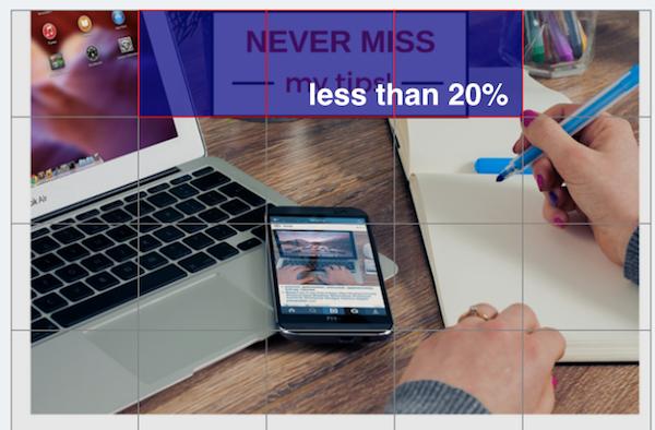 Facebook's 20% rule, Facebook ads, betsy kent, be visible, blog school